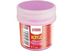 Акрил для декору матовий, 20 мл, рожевий MX60179-09 (1)