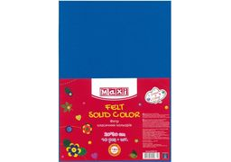 Фетр листковий (поліестер), 20х30см, 180г/м2, синій MX61622-02 (10)
