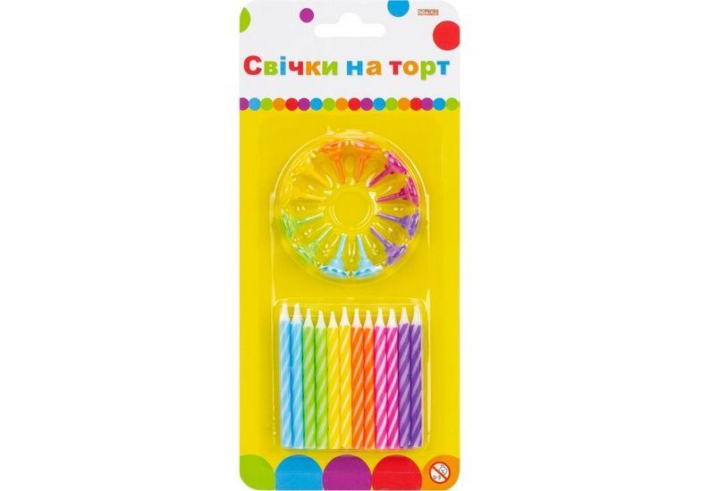 Набор: 24 свечи на торт; 12 подставок для свечей MX620100.C09 (1)