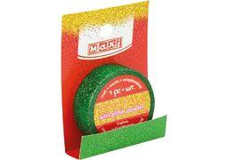 Стрічка декоративна з блискітками зелена 15мм*3м MX62037 (1)