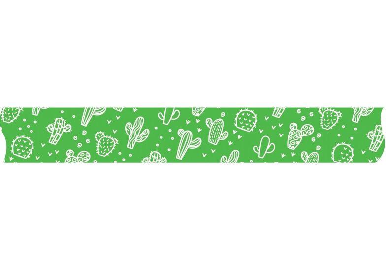 Лента декоративная с печатью  Кактусы, ширина 24 мм, длина 5 м MX62109 (1)