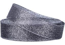 Стрічка парча 2,5см*22м, колір чорний MX62268-111 (1)