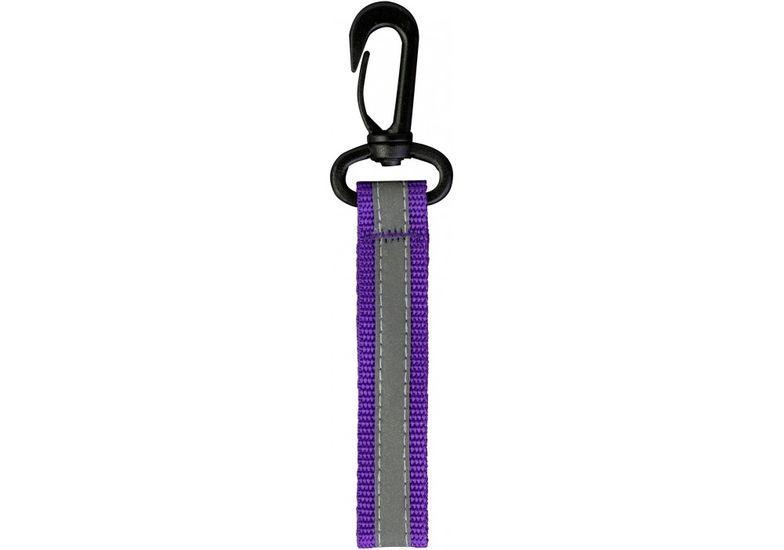 Брелок светоотражающий фиолетовый на пластиковом карабине MX62305 (1)