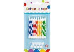 Набір: 8 свічок на торт, 8 см; 8 підставок для свічок MX627047.F01 (1)