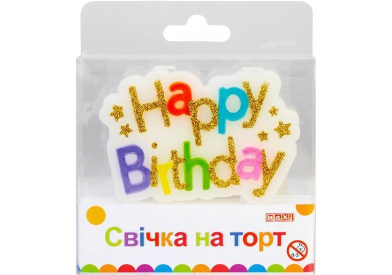 Двойная свеча на торт с блестками, размер 94x62x13 мм MX629234 (1)