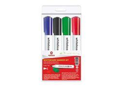 Набір маркерів для дошок OPTIMA 2-3 мм, 4 кольори в блістері O16204 (1)