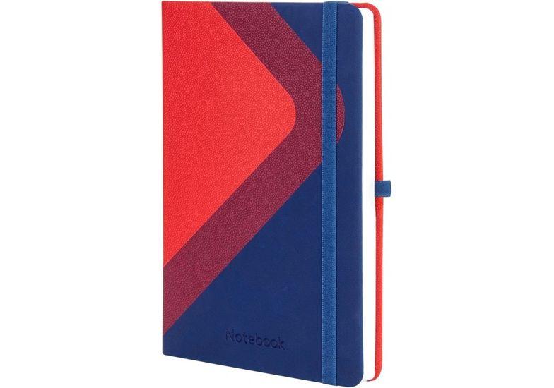 Деловая записная книжка COMBI-2, А5, твердая обложка, резинка, белый блок линия O20125-02 (2)