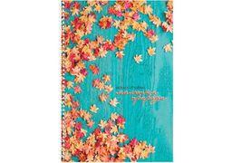 Блокнот Малюнки природи: Листя, А4, обкл. картон, бок. спіраль, 80 арк., кліт. O20330-31 (1)