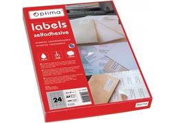 Етикетки самоклеючі, білі, А4, 100 арк/пач, на аркуші 1шт. O25101 (1)