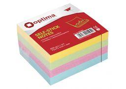Стікери Optima, 75x75, 4 кольори, 400 арк. O25505 (6)