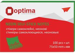 Стікери Optima, 75х50, неон салатовий, 100 арк. O25512-13 (12)