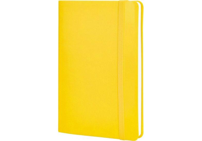 Деловая записная книжка VIVELLA, А5, мягкая обложка, резинка, белый блок линия, желтый O27104-05 (1)