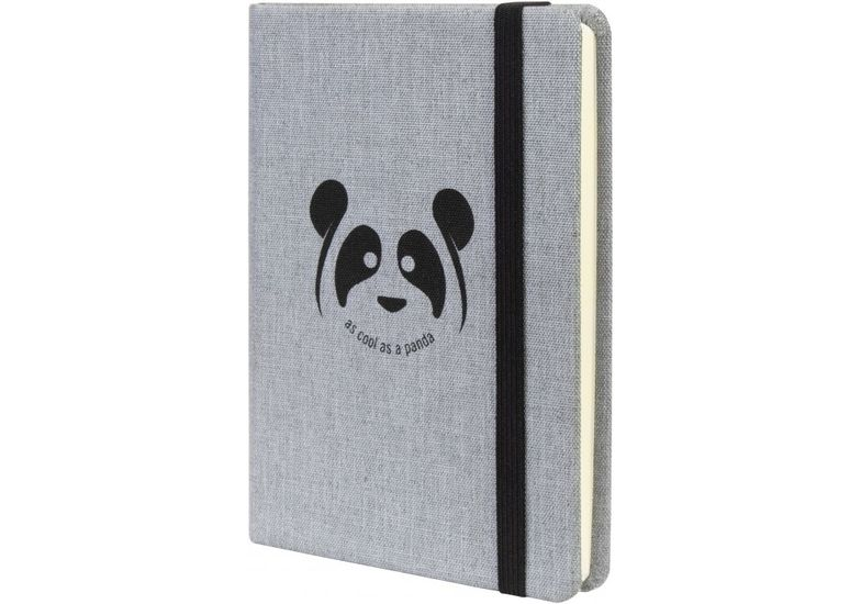 Деловая записная книжка PANDA, А6, твердая обложка текстиль, резинка, кремовый блок линия O27192-05 (1)