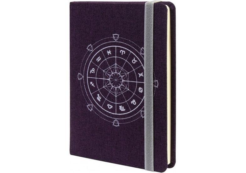 Деловая записная книжка ZODIAC, А6, твердая обложка текстиль, резинка, кремовый блок линия O27192-08 (1)