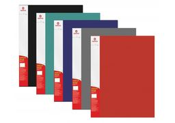 Папка А4 з 10 файлами Optima, фактура СМУГА, асорті O30671 (1)