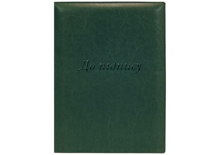 Папка до підпису, А4, Nebraska, зелена O36030-04 (1)