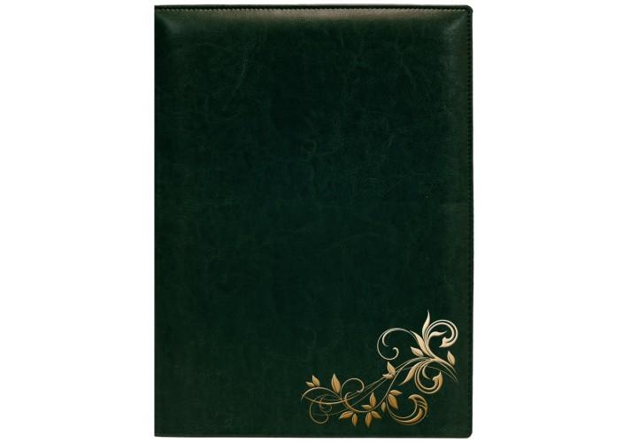 Папка тиснення Візерунок, Nebraska, зелена (золото) O36038-04 (1)