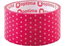 Стрічка клейка пакувальна 48 мм х 20 м Optima, Dots рожевий O45363 (1)