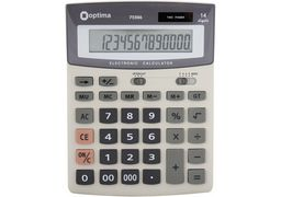 Калькулятор настільний бухгалтерський Optima O75506 O75506 (1)