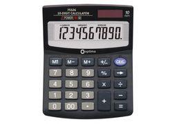 Калькулятор настільний Optima, 10 розрядів, розмір 125*100*27 мм O75526 (1)