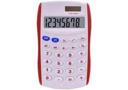 Калькулятор кишеньковий Optima 8 розрядів, розмір 123*77*14 мм, біло-червоний O75527-03 (1)