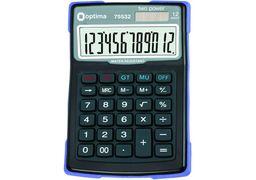 Калькулятор настільний Optima 12 розрядів, водонепроникний, розмір 156*103*38 мм O75532 (1)
