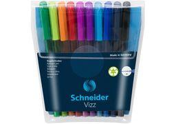Набір масляних ручок SCHNEIDER VIZZ 0,7 мм, 10 кол. в блістері S102290 (1)