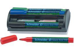 Набір маркерів з губкою для дошок та фліпчартів SCHNEIDER MAXX 110, 4 кольори в блістері S111098 (1)