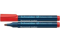 Маркер перманентний (спиртовий) SCHNEIDER MAXX 130 2-3 мм, червоний S113002 (10)
