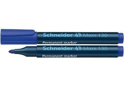 Маркер перманентний (спиртовий) SCHNEIDER MAXX 130 2-3 мм, синій S113003 (10)