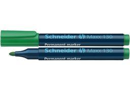 Маркер перманентний (спиртовий) SCHNEIDER MAXX 130 2-3 мм, зелений S113004 (10)