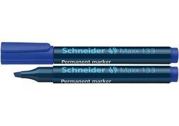 Маркер перманентний (спиртовий) SCHNEIDER MAXX 133 1-4 мм, синій S113303 (10)