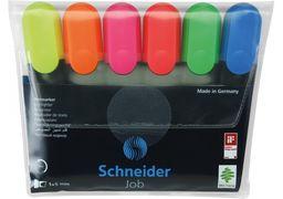 Набір маркерів текстовиділювачів SCHNEIDER JOB 1-4,5 мм, 6 кольорів в блістері S115096 (1)