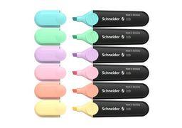 Набір маркерів текстовиділювачів SCHNEIDER JOB 1-4,5 мм, 6 пастельних кольорів в блістері S115097 (1