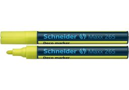 Маркер крейдовий SCHNEIDER MAXX 265 2-3 мм, жовтий S126505 (10)