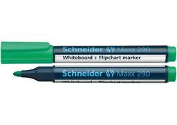 Маркер для дошок та фліпчартів SCHNEIDER MAXX 290 2-3 мм, зелений S129004 (10)
