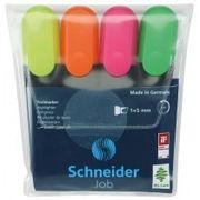 Набір маркерів текстовиділювачів SCHNEIDER JOB 1-4,5 мм, 4 кольори в блістері S1500** (1)