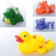 Животное для купания, 4 шт, пищалка, 14,5 см и 6 см, 4 вида, в сетке 14,5-9-7 см