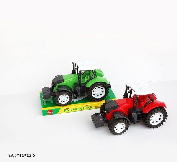 Трактор, инерционный, 2 вида, 2 цвета, пластик, 23,5*11*13,5