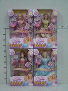 Кукла типа Барби, с аксессуарами, 4 вида, в коробке 30*20,3*6 см