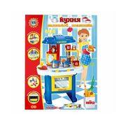 Кухня, посуда, духовка, 16 дет., звук, свет, на батарейке, в коробке 60-45-10 см