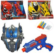 Набор супергероя, маска, пистолет, мягкие пули-присоски, 6 шт, 3 вида (2 вида - TF, СП), в коробке 3