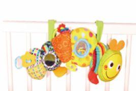 Игрушка-подвеска Biba Toys Весёлая Гусеничка