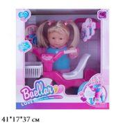 Кукла-пупс Baellar, 38 см, с велосипедом, в коробке 41*17*37