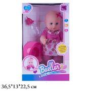 Кукла-пупс Baellar, 32 см, интерактивный, с аксессуарами, моргает, горшок, в коробке 36,5*13*22,5