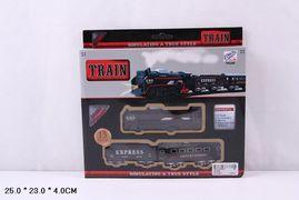 Железная дорога, на батарейке, свет, 204 см, в коробке 25*4*23
