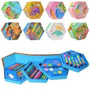 Набор для творчества, 4 яруса, фломастеры, карандаши, акварельные краски, 46 предметов, 8 видов, в к