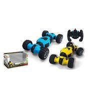 Р.У. Машина, на аккумуляторе, 31 см, трюковая, 4х4, резиновые колеса, USB-зарядка, 2цвета, в коробке