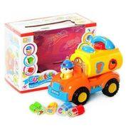 Музыкальная развивающая игрушка, машинка-сортер, 2 цвета, свет, звук, в коробке 22,5*13,4*14,5 см