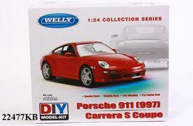 Welly Модель машинка металл Porsche 911(997) Carrera S. Coupe 1:24